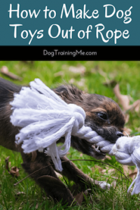 how to make dog toys out of rope